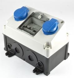 Mennekes 910001 Stromverteiler Amaxx 2x 230V Schuko