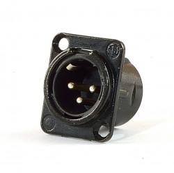 Neutrik NC3MDL-B XLR Einbaustecker 3 polig schwarz älter