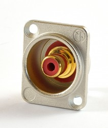 Neutrik NF2D-2 Chinch Einbaubuchse rot