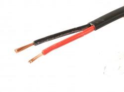 KFZ Kabel 2x1,5mm² Autoleitung Fahrzeugleitung schwarz/rot Meterware