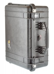 Peli 1550 schwarz mit Würfelschaumstoff Koffer Pelicase