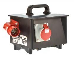 Schloder GSVI16 1C3 Stromverteiler 16A Fi 1x16-5xSchuko  mit K-Automaten