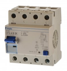 Doepke DFS 4B SK 63/0,03A Fehlerstrom Schutzschalter allstrom sensitiv 09144998