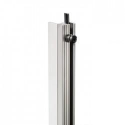 Rackschiene Aluminium stufenlos mit Gummikeder 1m AH 6162