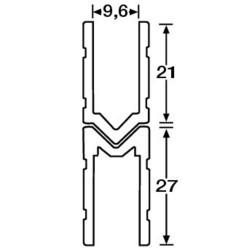 Schließprofil male/female für 9,6 mm Materialstärke 6144