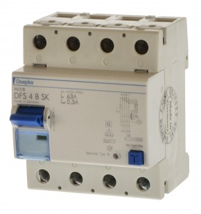 Doepke DFS 4B SK 63/0,30A Fehlerstrom Schutzschalter allstrom sensitiv 09146998