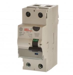 AEG GE FI40/0,03-2 FI-Fehlerstromschutzschalter2 polig 40A 604202