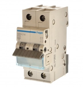 Hager MBN216 Sicherungsautomat B16 2 polig 431025