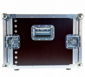 "DD Rack 8 He Flightcase 19"" Rack Amprack / Griff horizontal"