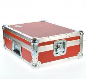 "Flightcase Mixercase 19"" 8 He / rot / 10 cm Einbauhöhe"