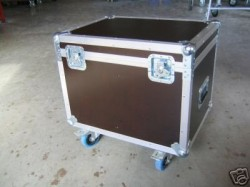 Flightcase Kabelcase Case Kabelkiste mit Blue Wheels
