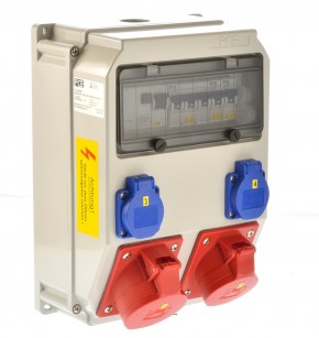 PCE Stromverteiler 32A ip54 Wandverteiler 9036581