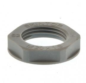 Gegenmutter Kunststoff grau M12