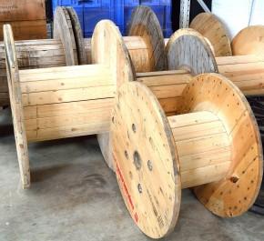 Kabeltrommel Holztrommel unterschiedliche Größen zur Wahl