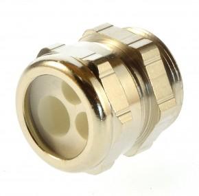 Kabelverschraubung Messing PG21 Pflitsch Mehrfachdichteinsatz 2x7 / 1x10 mm
