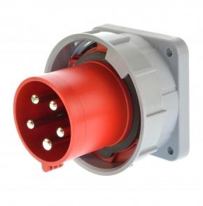 PCE 635-6 Anbaugerätestecker 63A gerade 5p 6h IP67 Twist