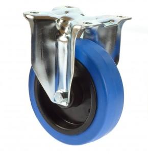 Tente 125mm Bockrolle blau 250 Kg 3478UFR125P62 blue