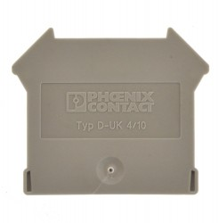 Phoenix Contact D-UK 4/10 Abschlussdeckel grau 3003020