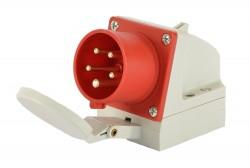 PCE 515-6d CEE Wandgerätestecker mit Klappdeckel ip44 5polig