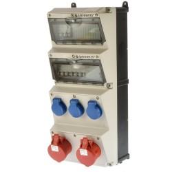 Mennekes 940002 Stromverteiler ip44 2x16-3x220V