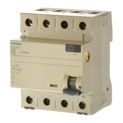 Siemens 5SV3347-6 Fi Schalter 80/0,03 4polig