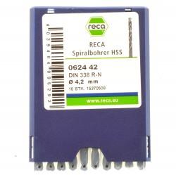 (Grundpreis 0,50€/Stk) RECA Spiralbohrer HSS 4,2mm DIN 338 R_N 15370508 10 Stk.