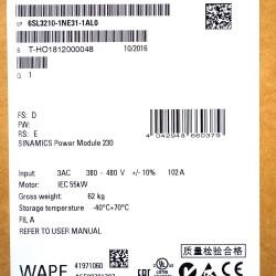 Siemens 6SL3210-1NE31-1AL0 Sinamics Power Modul PM230