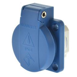 Mennekes 11061 Anbausteckdose Schuko blau Steckklemmen