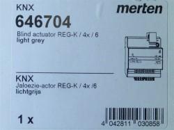 Merten 646704 KNX Jalousieaktor REG-K/4x/6 lichtgrau