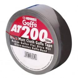 (Grundprteis 0,278€/m) 50m Advance Tapes AT 200 - Gaffa Klebeband matt schwarz