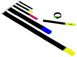 (Grundpreis 0,60€/Stk.) 10 Stk. KlettKabelbinder 16x1.6 cm schwarz Klett Kabelbinder