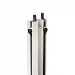 Rackschiene Aluminium doppelt stufenlos mit Gummikeder 1m