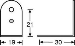 (Grundpreis 0,25€/Stk.) Vpe. 4 Stück L-Ecke 19x30 verzinkt 4041