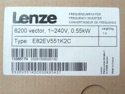 Lenze E82EV551K2C Frequenzumrichter 0,55 Kw Vector8200 1-240V