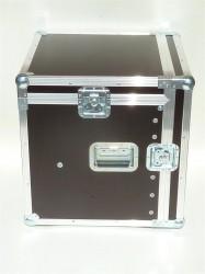"""Winkelrack Flightcase 19"""" Rack mit 2 Deckeln 10/10He mit Serviceklappe"""