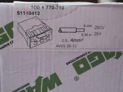 (Grundpreis 0,849€/Stk.) 93 Stück Wago 770-713 Snap in Steckerteil 3 polig
