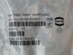 (Grundpreis 3,90€/Stk.) Vpe. 10 Stück HAN SNAP Kupplung 09330009987