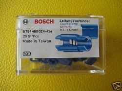 (Grundpreis 0,236€/Stk.) Vpe.25 Stück Bosch Leitungsverbinder Abzweigverbinder 0,5-1,5