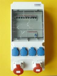 Mennekes  8701088 Stromverteiler 32-16-4x220V Fi63A C-Automaten
