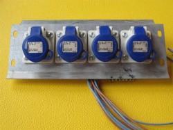 Stromverteiler CEE 3pol 4x16A auf verz.Blech