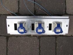 Stromverteiler CEE 3polig Verteilerleiste 3x16A