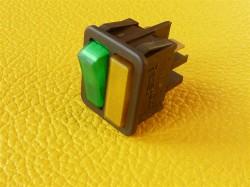Schalter 16A 250V mit Einschaltkontrolle und zusätzlicher Positionsleuchte