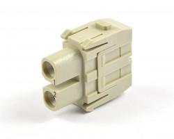 Harting HAN 2 MOD-BU-S 40A Buchseneinsatz Modul 09140022701